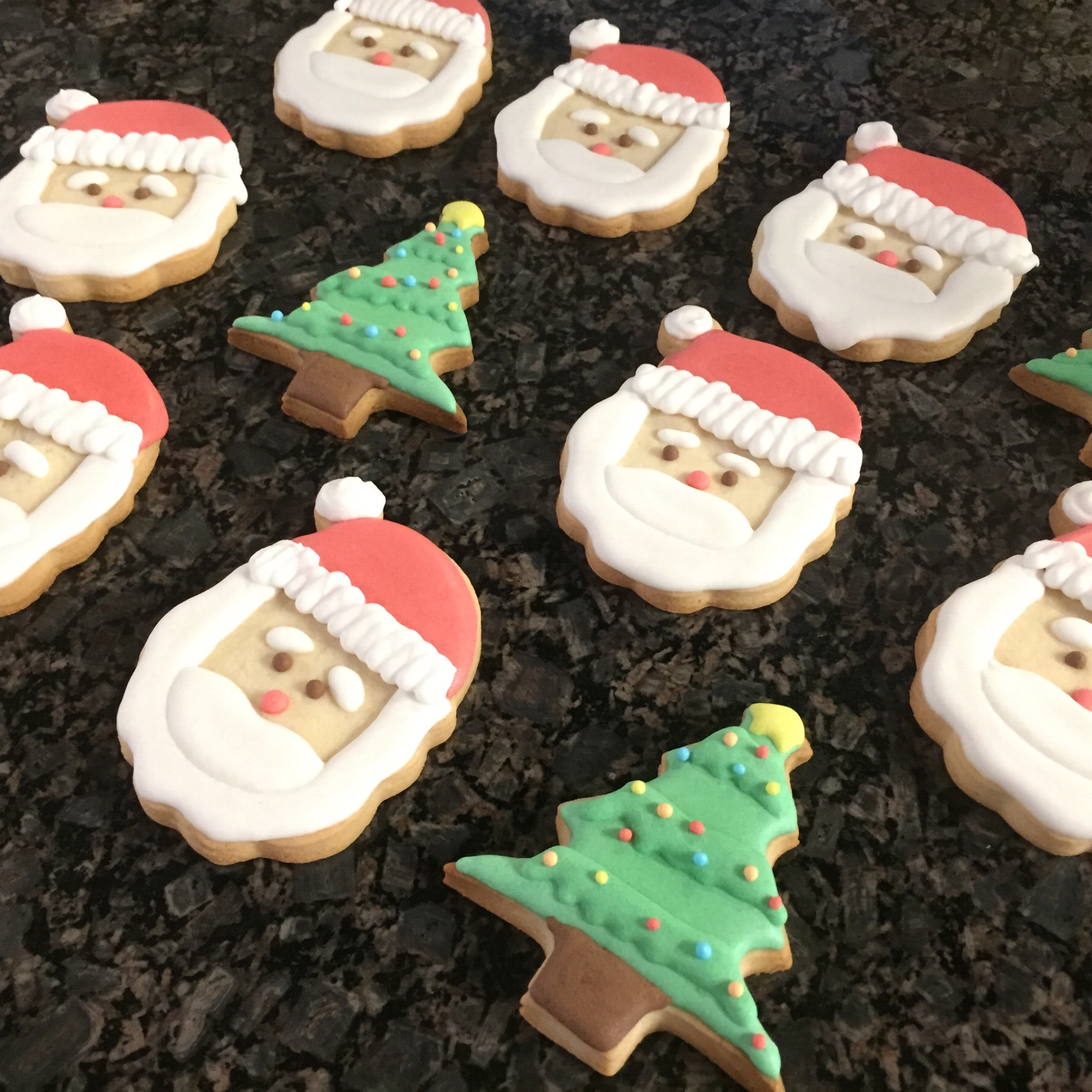 Merry Christmas Icing Cookies