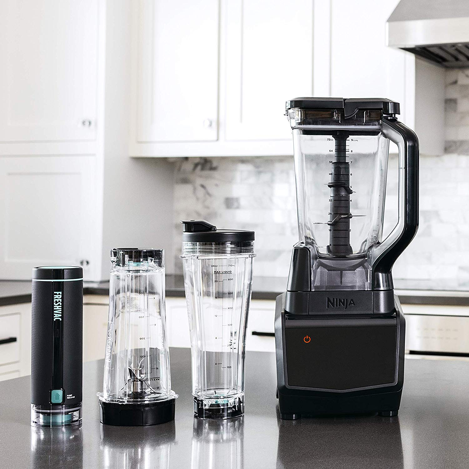 Ninja Smart Screen Duo Technology in Black (CT661V) Countertop Blender with Freshvac