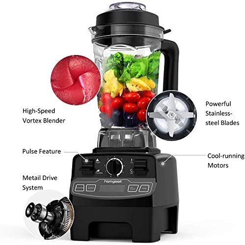 Homgeek Professional Countertop Blender Smoothie Maker