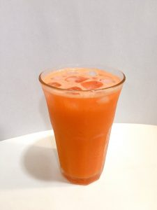 Serve the carrot juice.