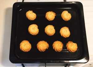 Bake the cookies in the preheated oven