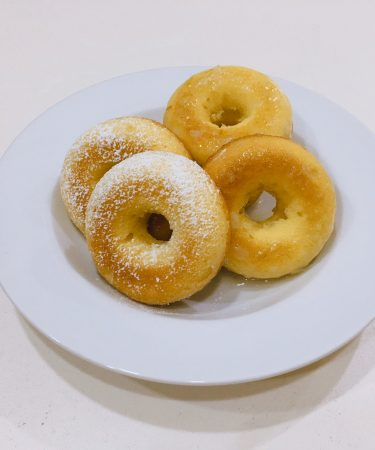 Lemon Pound Cake Donuts