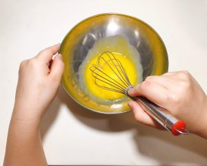 whisk egg yolk