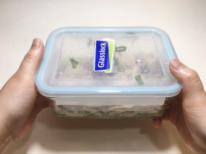Put a lid on the food container