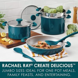 Rachael Ray 8-Piece Aluminum Cookware Set