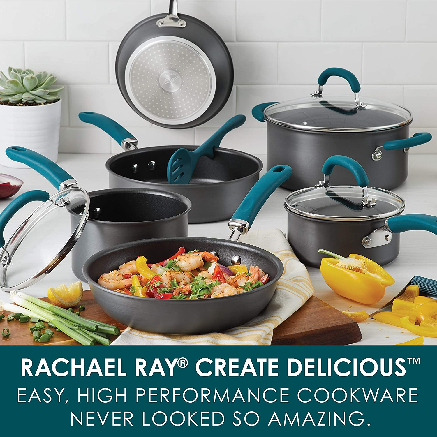 Rachael Ray Hard Anodized Nonstick Cookware Pots and Pans Set