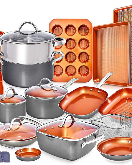 Home Hero Copper Pots and Pans Set
