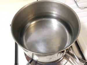 Add water in a pan
