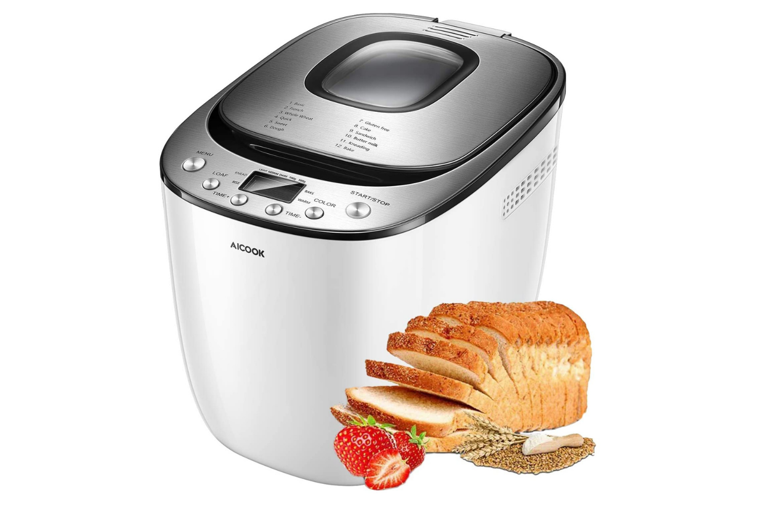 AICOOK Automatic Bread Maker Machine