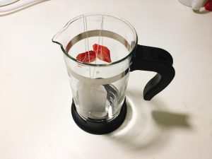 put the tea bag in a french press
