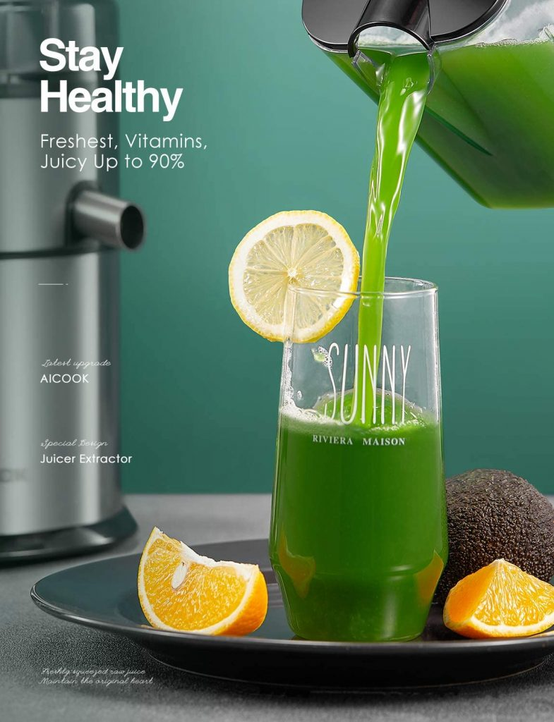 Aicook 5-speed Centrifugal Juicer with juice