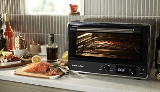 KitchenAid KCO124BM Digital Air Fryer Oven in kitchen