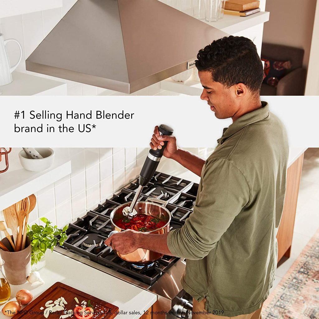 KitchenAid KHBBV53BM Cordless Hand Blender in kitchen
