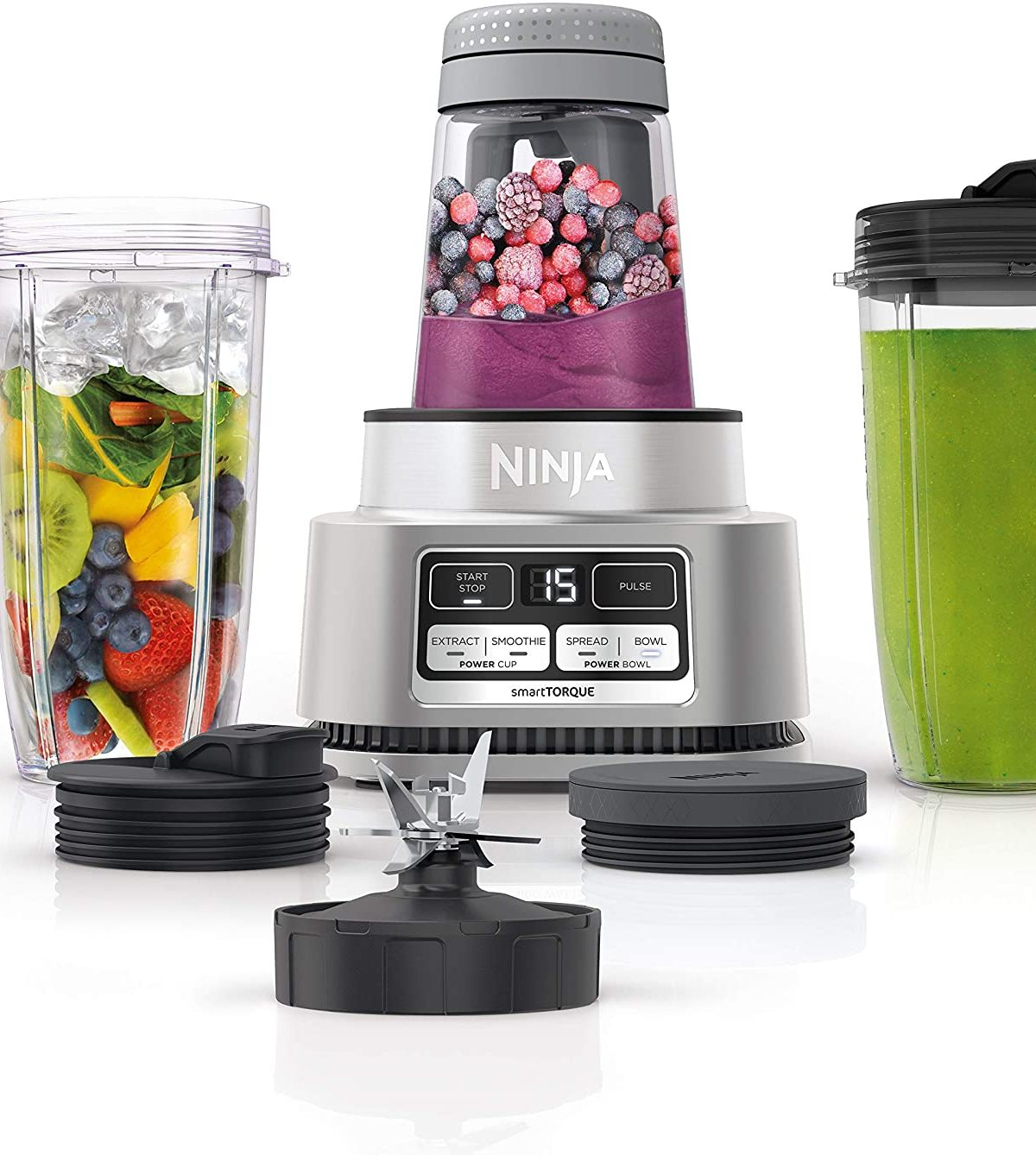 Ninja SS101 Foodi Power Nutri Duo Smoothie Bowl Maker and Personal Blender