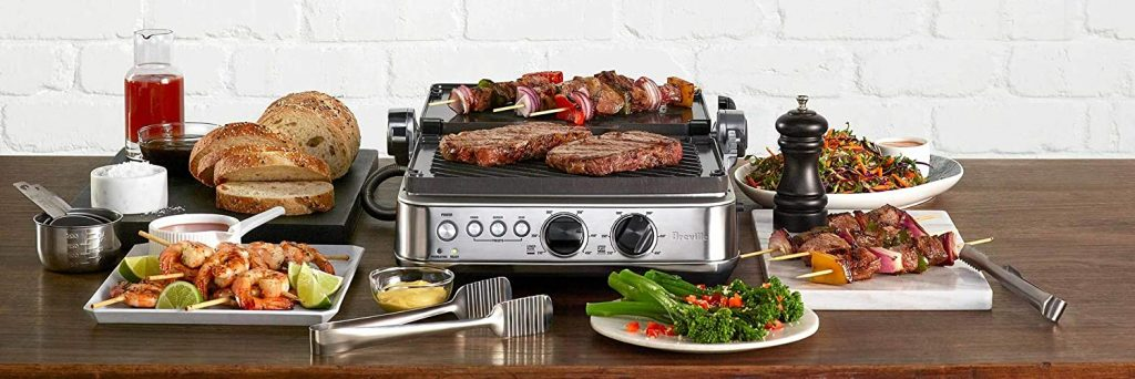 Breville BGR700BSS Sear and Press Grill Cook