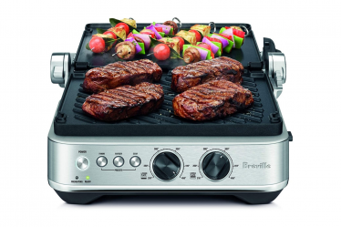 Breville BGR700BSS Sear and Press Grill with steak