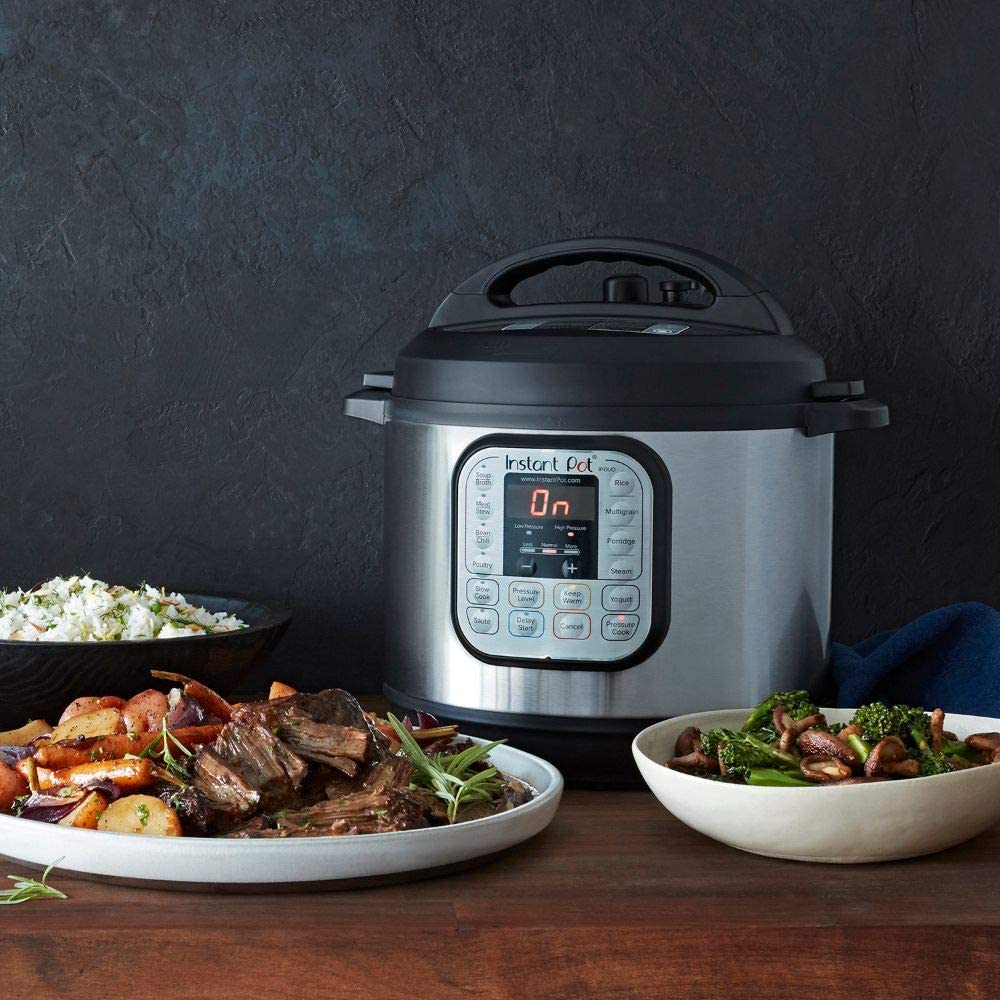 Instant Pot Duo 7-in-1 Electric Pressure Cooker in kitchen