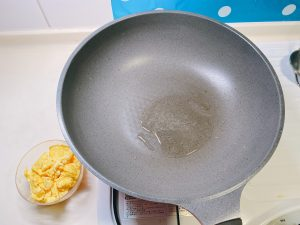 heat the oil in the pan over medium-high heat