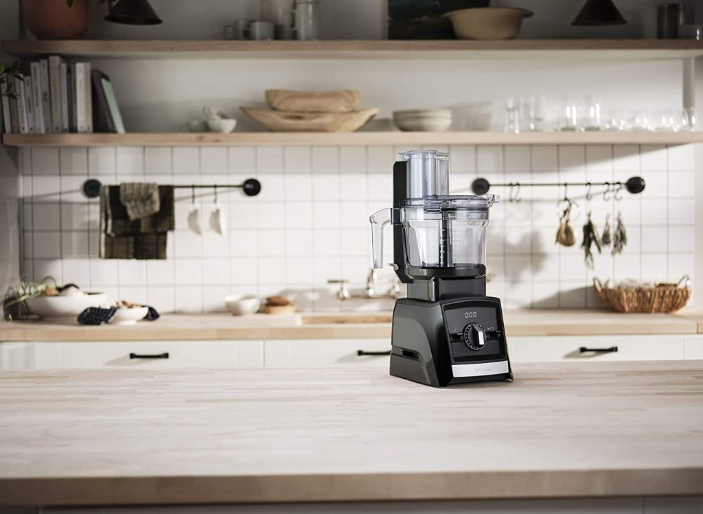 Vitamix 12-Cup Food Processor Attachment in use