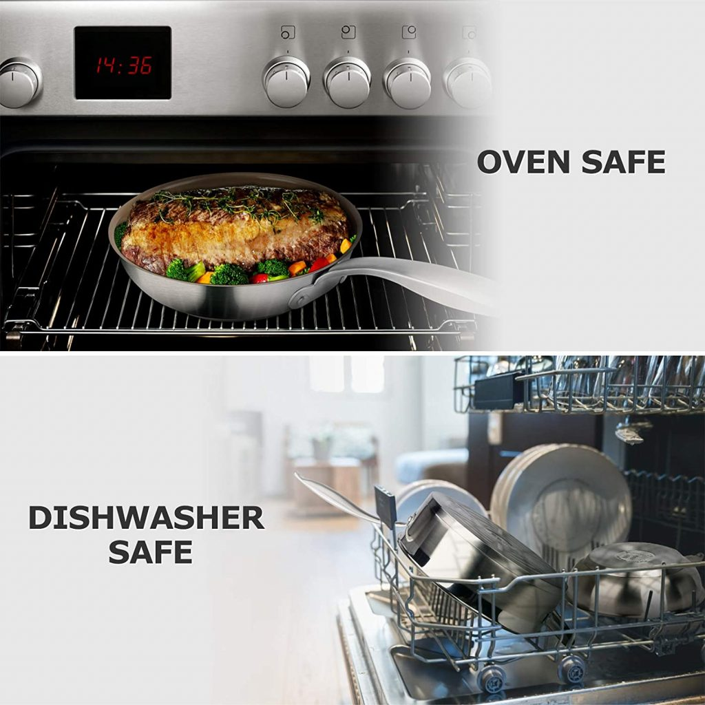 Duxtop 17PC Professional Stainless Steel Induction Cookware Set Safe
