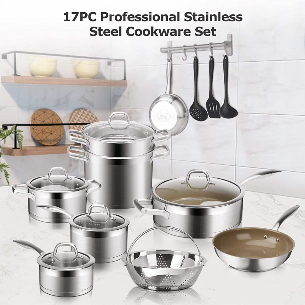 Duxtop 17PC Professional Stainless Steel Induction Cookware Set vision