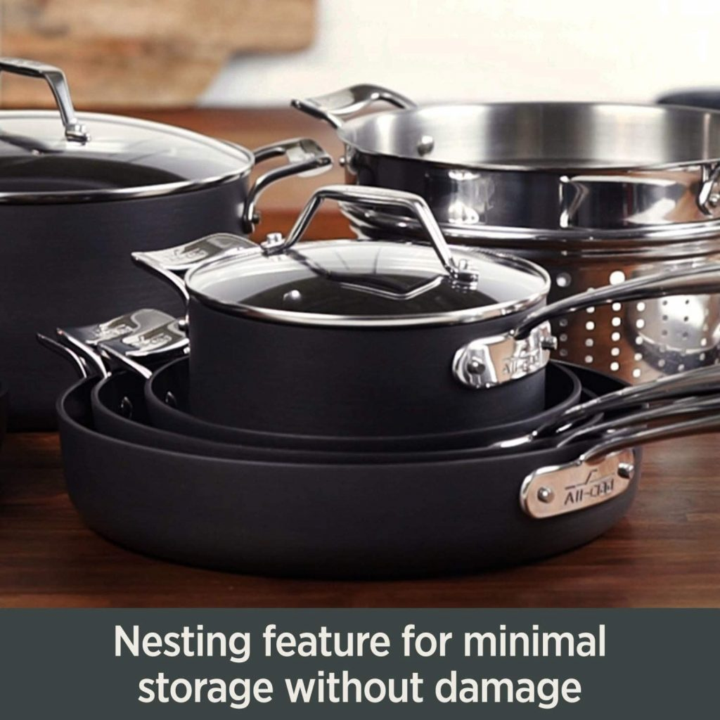 All-Clad Essentials 6-Quart Pot Nesting Feature