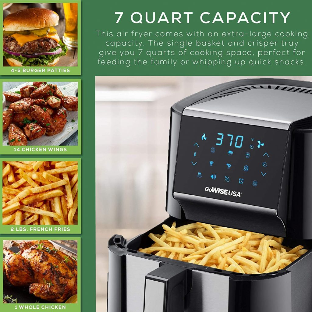 GoWISE USA 7-Quart Air Fryer & Dehydrator Capacity