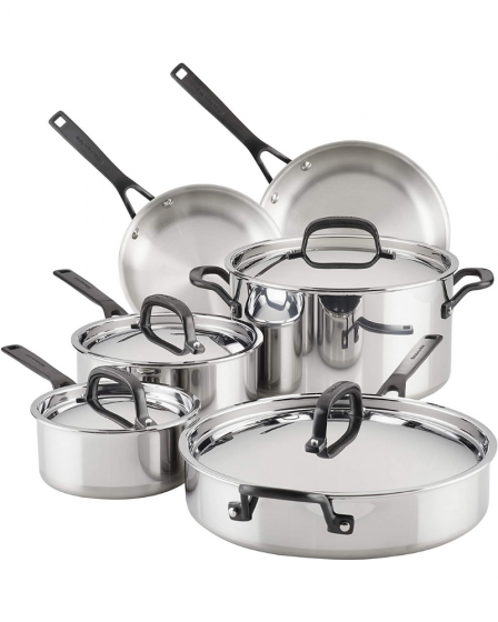 KitchenAid 5-Ply Stainless Steel Pots and pans