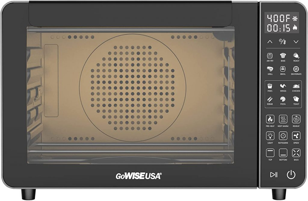 GoWISE USA 25-Quart Air Fryer Oven interior designed