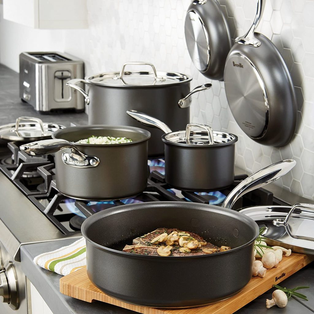 Breville Thermal Pro Hard 10-Piece Nonstick Cookware
