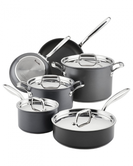 Breville Thermal Pro Hard 10-Piece Nonstick Cookware Set
