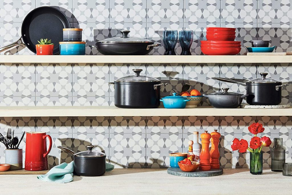 Le Creuset Toughened Nonstick PRO Cookware Set in Kitchen